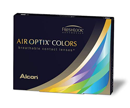 Alcon Air Optix Colors, sterling grey, Monatslinsen weich, 2 Stück / BC 8.6 mm / DIA 14.2 / 0 Dioptrien