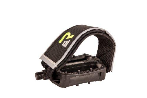 Retrospec Bicycles BMX-Style Platform Pedal with FGFS Freestyle Velcro Strap, Black