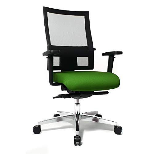Topstar SITNESS 60 Bürodrehstuhl - mit atmungsaktiver Rückenlehne, inklusive Armlehnen - grün/schwarz - Bandscheibenstuhl Bandscheibenstühle Bürodrehstuhl Designdrehstuhl Designdrehstühle Drehstuhl