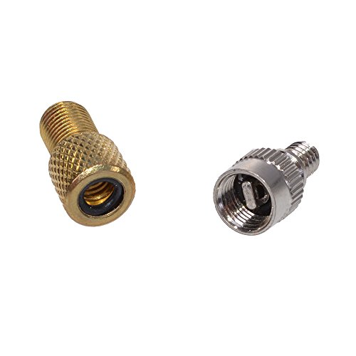 Fietsventieladapterset, Dunlop op Schrader, Schrader op Dunlop ventielen/ventieladapter, F-45023