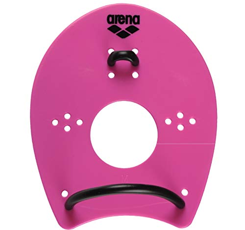 Arena Elite Hand Paddle, Pink/Black, Medium
