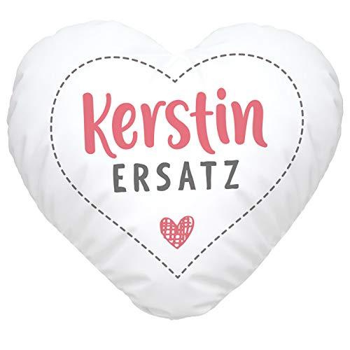 SpecialMe® Herzkissen personalisiert Geschenk Liebe eigener Name Schatzersatz Herz Für Ihn weiß Herz-Kissen