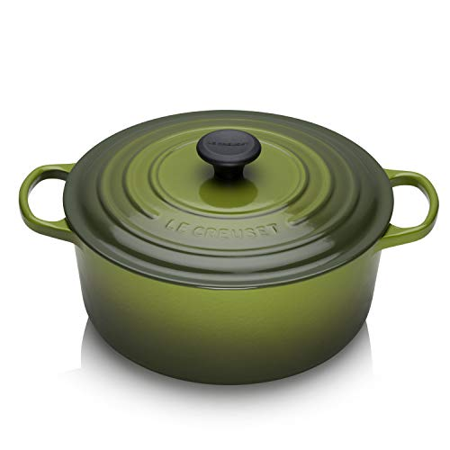 Le Creuset 7 1/4 Qt 7.25 Quart Round Cast Iron French Oven Spinach Green (0.25 Quart Oven)