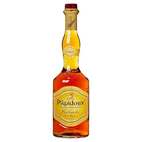 Papidoux Fine Calvados - aus Äpfel der Normandie (1 x 0,7l) - über drei Jahre gereift mit mildem, harmonischem Geschmack