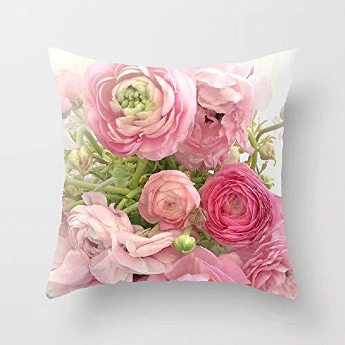 TaiRi Rose Kissenbezug Mode Sofa Kissenbezug Kissen rosa mädchen Herz dekokissen fällen perfekt für schlafsofa Schlafzimmer wohnkultur Auto