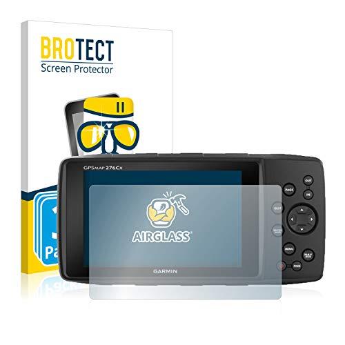 BROTECT Protector Pantalla Cristal Compatible con Garmin GPSMAP 276Cx Protector Pantalla Vidrio (3 Unidades) Dureza 9H AirGlass