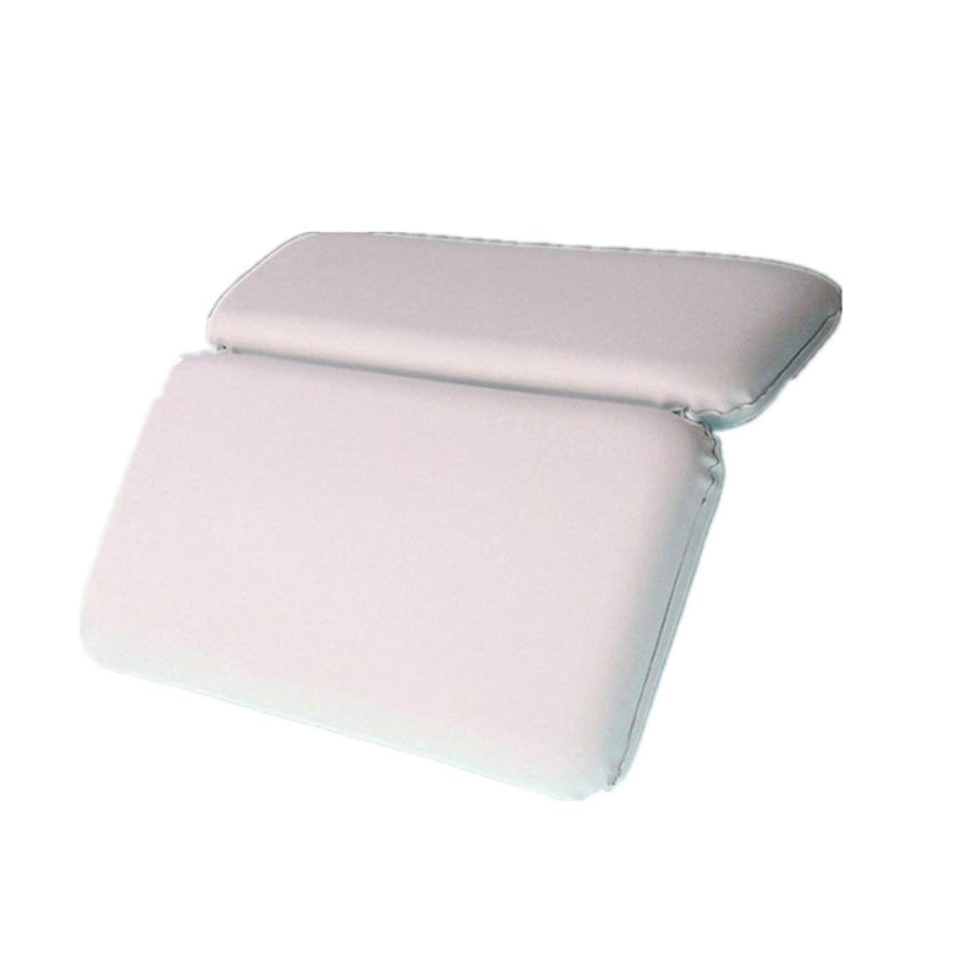 理由強調示す浴槽枕 バックサポートを緩和6チャックスリップバス製品のスパバスヘッドレストクッションと首のサポート 滑り止めバスタブスパ枕 (色 : 白, サイズ : 36.8 x 28cm)
