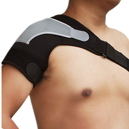 Schulterstütze Verstellbare Schulterschützer Übung Schulterschutz einzelner Schulter-Dehnungsschutz universal-Unisex (Farbe : Black Right Shoulder, Size : One Size)