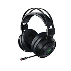 WIRELESS: It features a wireless PC gaming headset equipped with intelligent haptic technology developed by Lofelt that converts sound signals into dynamic touch-sensory feedback in real time HYPERSENSE: The Razer Nari Ultimate is powered by Razer Hy...