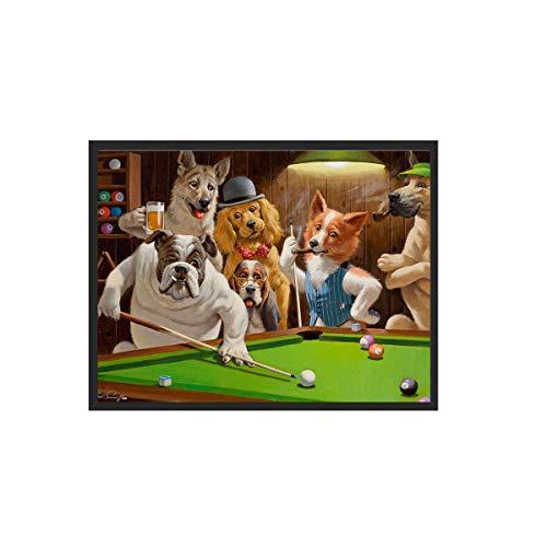 ZJBKX High Definition Leinwand Druck Hund Spielen Billard Snooker Ölgemälde Kunst Home Dekoration Leinwand Poster 21 * 30Cm A