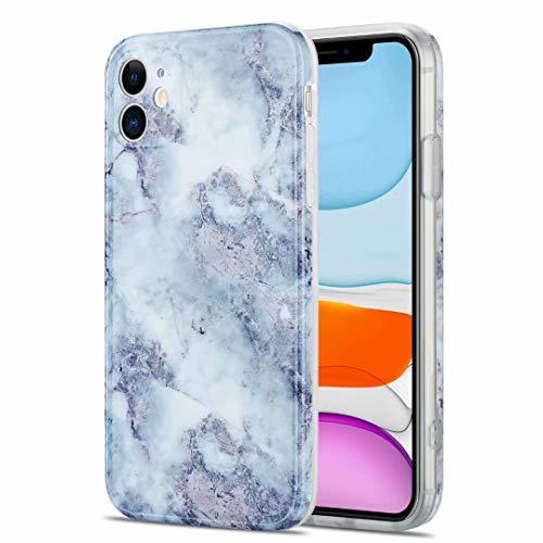 Funda para Samsung Galaxy S21, con purpurina brillante, ultra delgada, brillante, suave mármol, TPU a prueba de golpes, silicona y goma TPU para Samsung Galaxy S21, color gris