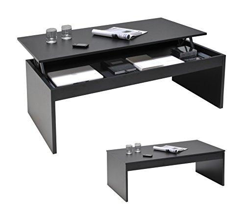 Weber Industries 026316 Contemporain Darwin Table Basse Noir 120 x 42,5 x 60 cm