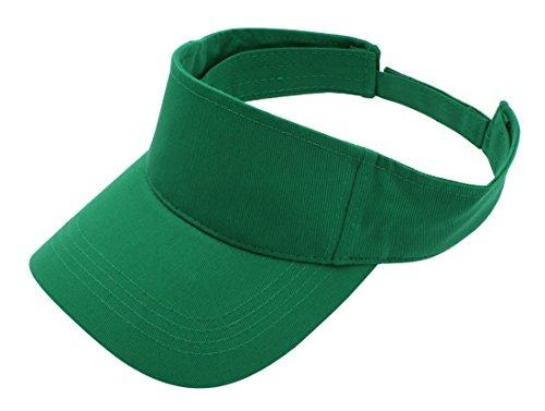 Top Level Sun Sports Visor Men Women - One Size Cap Hat,KGN Kelly Green