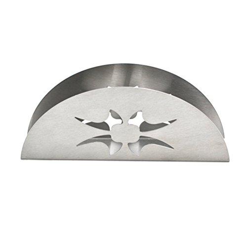 TOPBATHY servetthållare av rostfritt stål för bänkskivor matbord (sektor), rostfritt stål, se bild, storlek 1