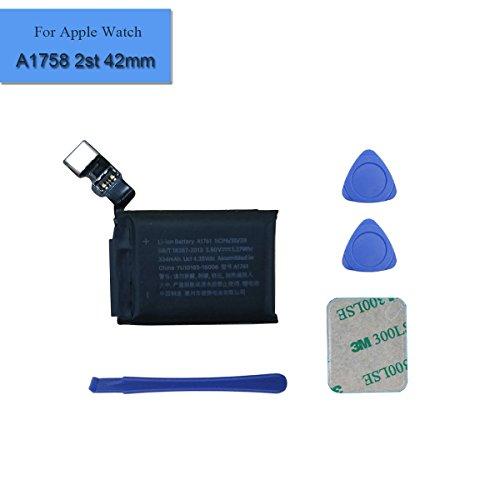 Batería de repuesto A1761 compatible con Watch Series 2 2 42 mm A1758 Gen 334 mAh 3,8 V + herramientas