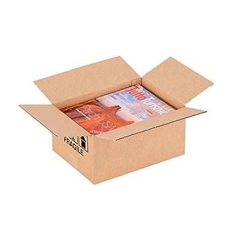 20 x 20 x 15 cm Set di 20 Propac Z-BOX202015M Scatola Cartone Due Onde Avana
