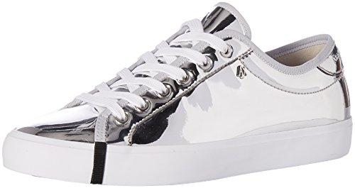 AšX Armani Exchange - Zapatillas de Deporte para Mujer de Corte bajo, Color Plateado, Talla 40 EU