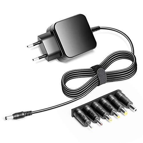 KFD Universal Stecker Netzteil Ladekabel Ladegerät 800mA 400mA 500mA 600mA 1000mA 1500mA 2000mA mit 6 Adapter 5,5x2,5mm / 4,0x1,7mm / 4,8x1,7mm / 3,5x1,35mm / 2,5x0,7mm / 5,5x1,7mm 9,5V 2A