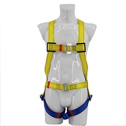 YANWE Climbing Technology Explorer Harnais, Multipurpose Full Body Climbing Harness Adjustable Outdoor Mountain Climbing Safety Belt Harness Equipment,A