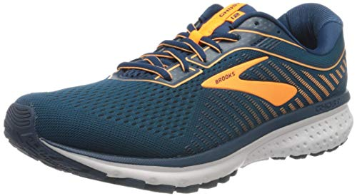 Brooks Ghost 12, Scarpe da Corsa Uomo, Poseidon/Grey/Orange, 40 EU