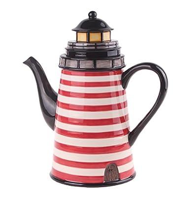 "Blue Sky Ceramic Beacon Teapot, 8.5 x 5 x 9"""