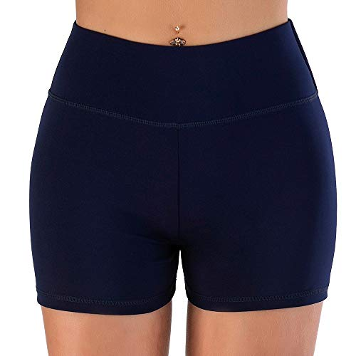 WZGGZWGG Sport Shorts Fitness Active Enge Shorts Spandex Damen Gym Yoga Shorts for Damen Lauf (Color : Marine, Size : S)