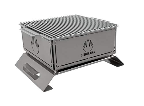 Mibrasa Hibachi MH 300 Plus - Barbacoa portátil Totalmente Fabricada en Acero Inoxidable 304. ¡La imaginación y Creatividad del Chef con el Hibachi límites!