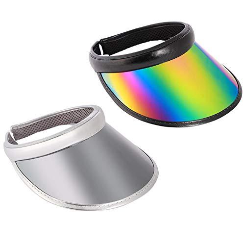 Visera de color UV para hombre y mujer, con visera reflectante -  -  54 cm