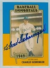 Charlie Gehringer AUTOGRAPH d.93 TCMA Baseball Immortals Detroit Tigers