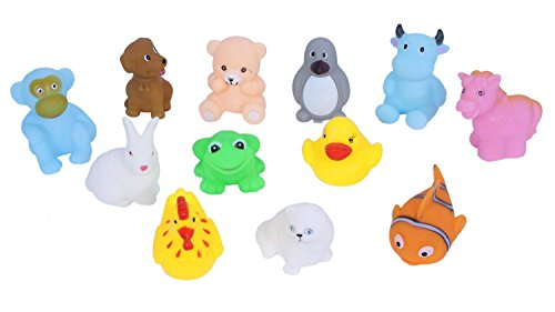 Vibgyor Vibes Lovely Mixed Colourful Chu Chu Squeeze Me Toys. for Baby/Toddler/Infants and Newborns. Pack of 12