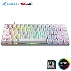 ✅ 【RGB Backlit 】: 16.8 Million Color combinations , multiple backlit mode ( Radar, Ripple, Wave, Nebula , Waves, Gradient, Breathing, Star , Laser, Snake and race light mode), no drivers needed. Plug & Play small form factor keyboard ✅ The Durgod HK ...