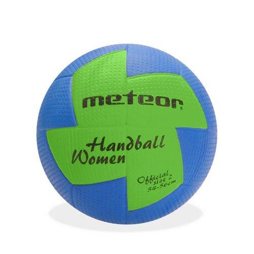 meteor® Nuage Handball Kinder Jugend Damen ideal auf die Kinderhände abgestimmt idealer Handbälle für Ausbildung weicher handballen mit griffiger Oberfläche (Damen #2 (54-56 cm), Blau/Grün)