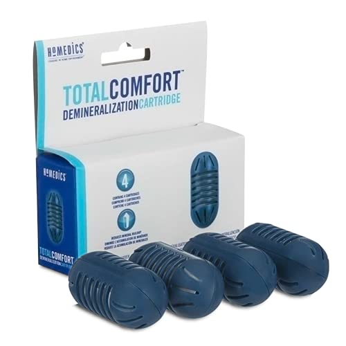 HoMedics Ultrasonic Demineralization Humidifier Replacement Cartridges | 4-pack | Prevents Hard Water Build-Up | Filters Mineral Deposits | Purifies Water | Eliminates White Dust | Removes Odor