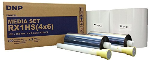 DNP Media Set RX1 – Thermopapier für Drucker DS-RX1 – 10 x 15 cm – 700 x 2 Kopien