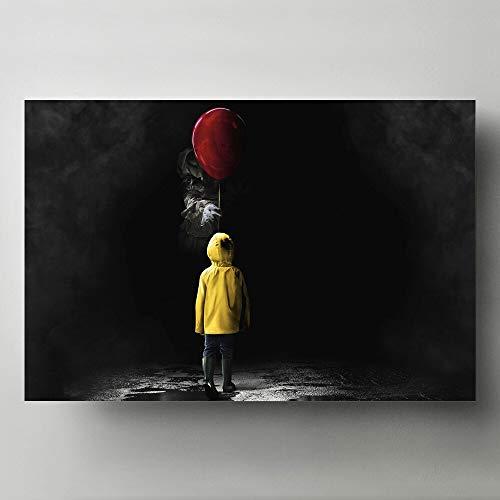 CHBOEN Pinturas decorativas modernas para el hogar, arte de pared, película de terror, imagen de Stephen King, carteles e impresiones artísticos en lienzo 60x90cm