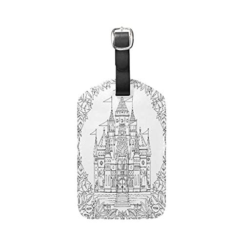 Etiquetas para equipaje Arte De La Casa Abstracta Blanca Equipaje Etiquetas de Maleta Nombre Etiqueta de Dirección ID de Cuero para Viajes(1piezas)