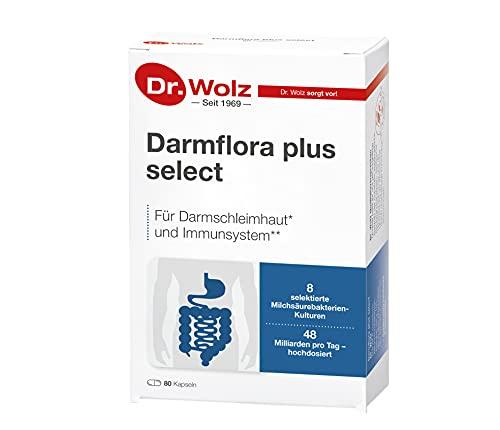Darmflora plus select Dr. Wolz | hochdosierte Bakterienkulturen 48 Mrd/Tag | Vitamin B6 und B12,...