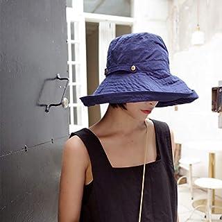 DUOLUO と冬の檐sunhat女性の日焼け防止日焼け防止帽日本の野生の折りたたみ漁師の帽子の女性の韓国語バージョン