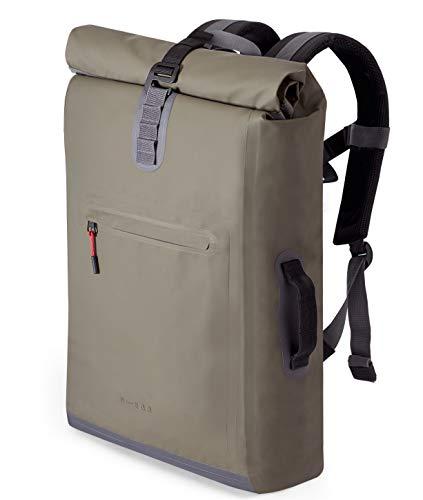 """A-Lab • Model D • Wasserdichter Fahrradrucksack • Messenger Backpack • Kurierrucksack aus robuster LKW Plane (26l) mit extra Hülle für 15"""" Laptop • Wasserdichter..."""