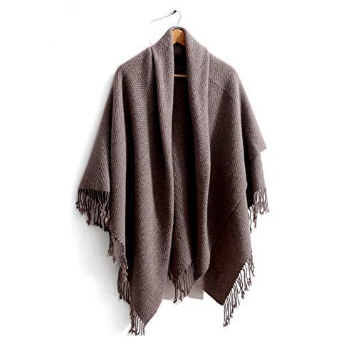 CHENGWJ sjaal sjaal dames oversized wollen mantel vrouwelijke herfst en winter kleur bijpassende dikke deken multi-functie sjaal