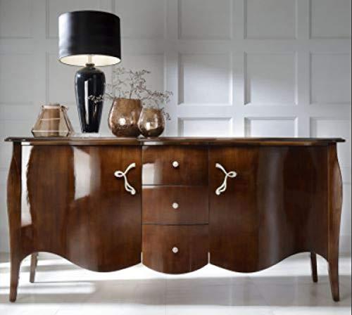 Casa Padrino Barock Kommode Braun 201 cm - Sideboard Art Deco Möbel