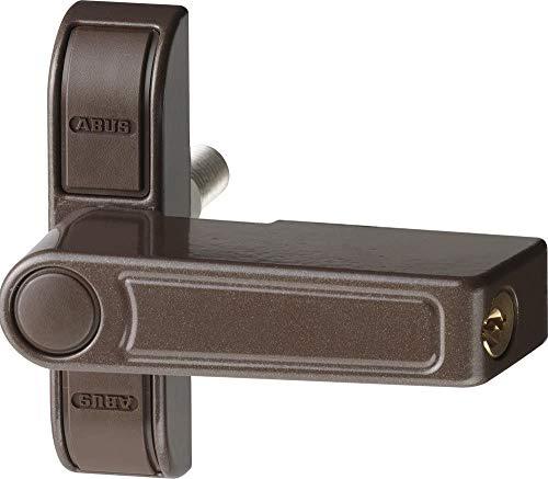 ABUS Fenster-Zusatzsicherung 2410 AL0089 - Sicherheitsschloss mit Schwenkriegel für einflügelige Fenster, gleichschließend - ABUS-Sicherheitslevel 6 - 89617 - Braun