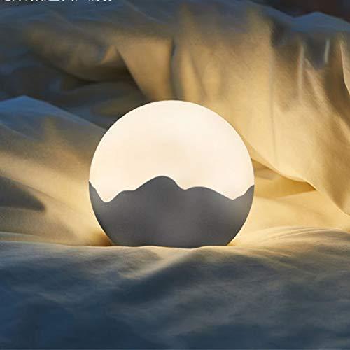 OSALADI - Lámpara LED de noche, luz táctil de mesa, atenuación, lámpara de mesa, para sala de estar, dormitorio (blanco/amarillo cálido)