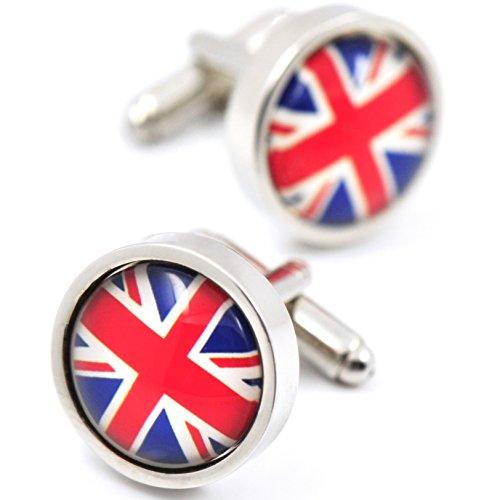 『MFYS Jewelry イギリス 国旗 ファッション メンズ 紳士 カフス (カフスボタン・カフリンクス)【専用収納ケース付き】』の1枚目の画像
