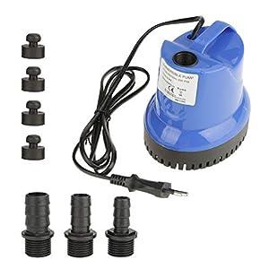 Bomba Sumergible Tanque Acuario Ultra-Silencioso Fuente Estanque de Peces Bomba Anti-Seca Planta Aire Acondicionado…