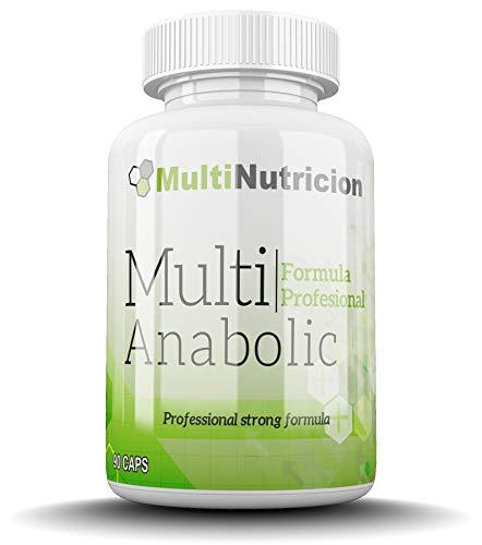 Multi Anabolic Compuesto Prohormonal   Potenciador de Testosterona   90 Capsulas