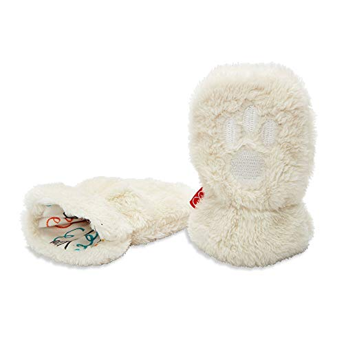 Magnetic Me So Soft Minky Fleece Magnetic Baby Mittens Cream 18-24 Months