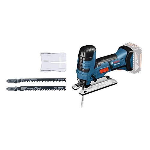 Bosch Professional GST 18 V-LI S (Stabversion, Schnitttiefe in Holz/Alu/Metall: 120/20/8 mm, 3 Stichsägeblätter, Spanreißschutz, ohne Akkus und Ladegerät, im Karton)