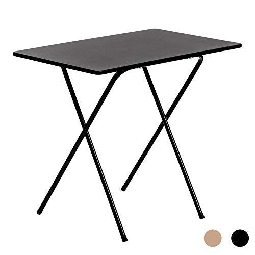 Mesa de trabajo plegable con tablero de madera - Ideal para