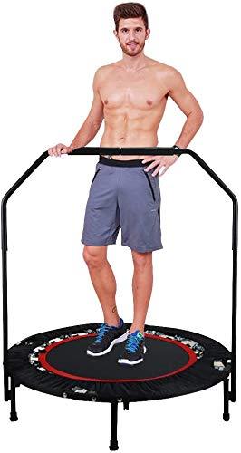 ANCHEER Trampoline de Fitness Pliant Trampoline pour Enfant Accoudoir réglable en Hauteur(83-90cm) pour Exterieur/ Interieur/Jardin Charge maximale: 120 kg (Rouge)